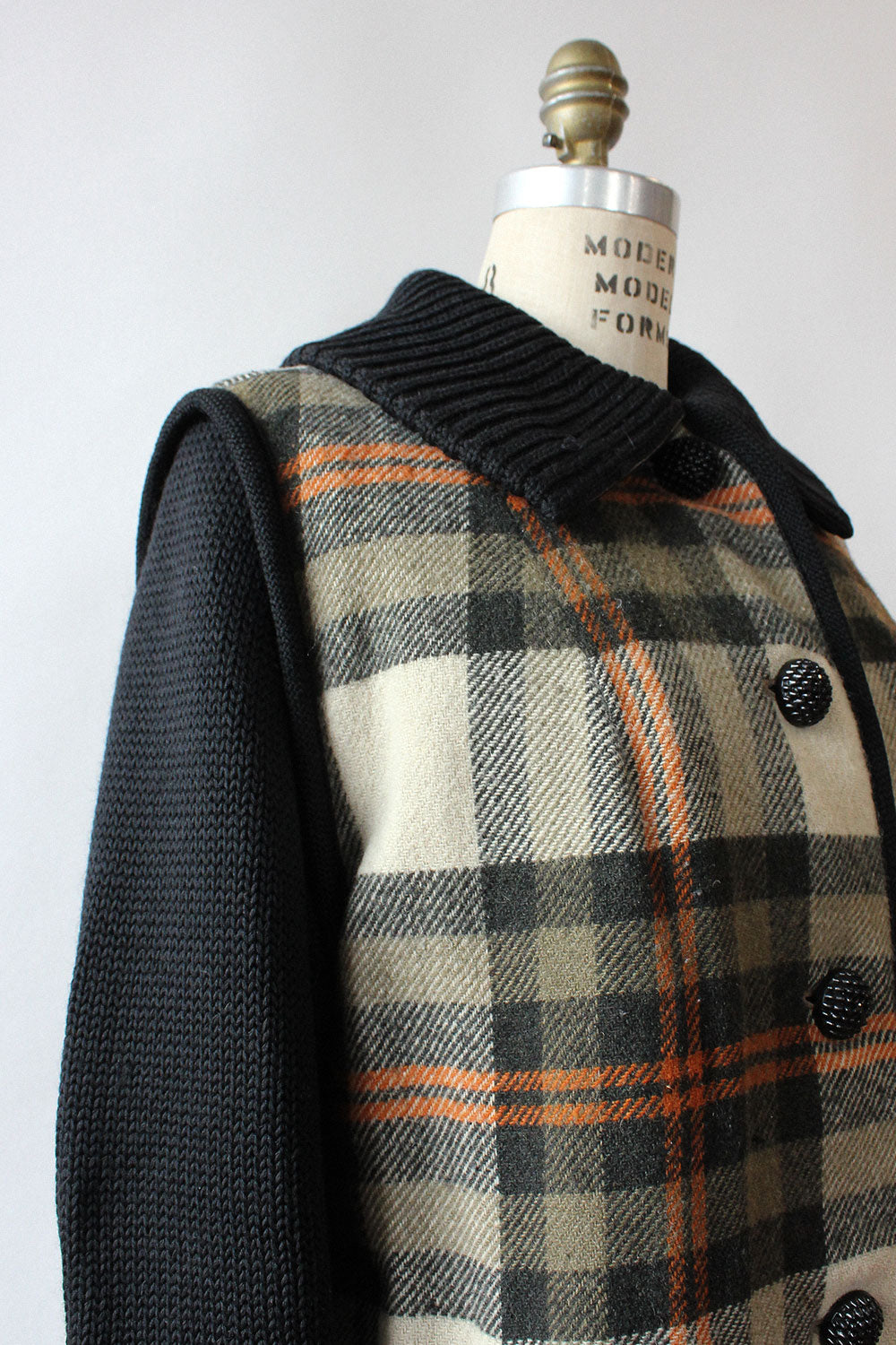 Penguin Plaid Cocoon Coat S/M