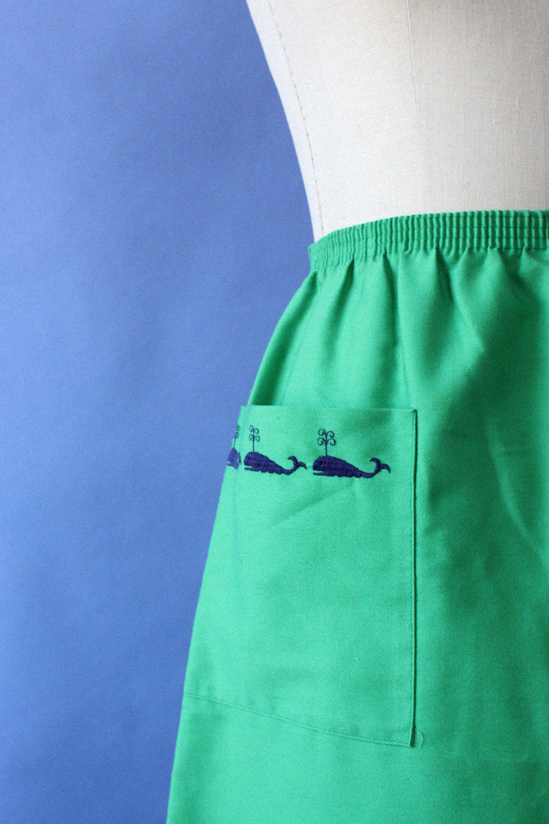 Whale Embroidered Skirt S/M