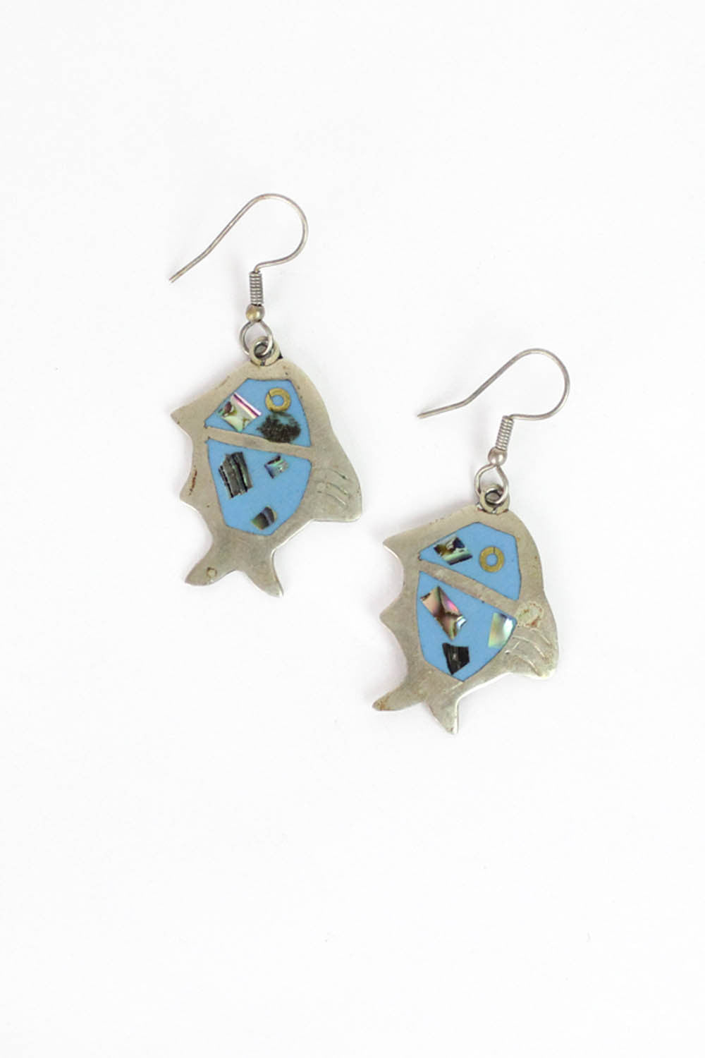 Alpaca Fish Mosaic Earrings