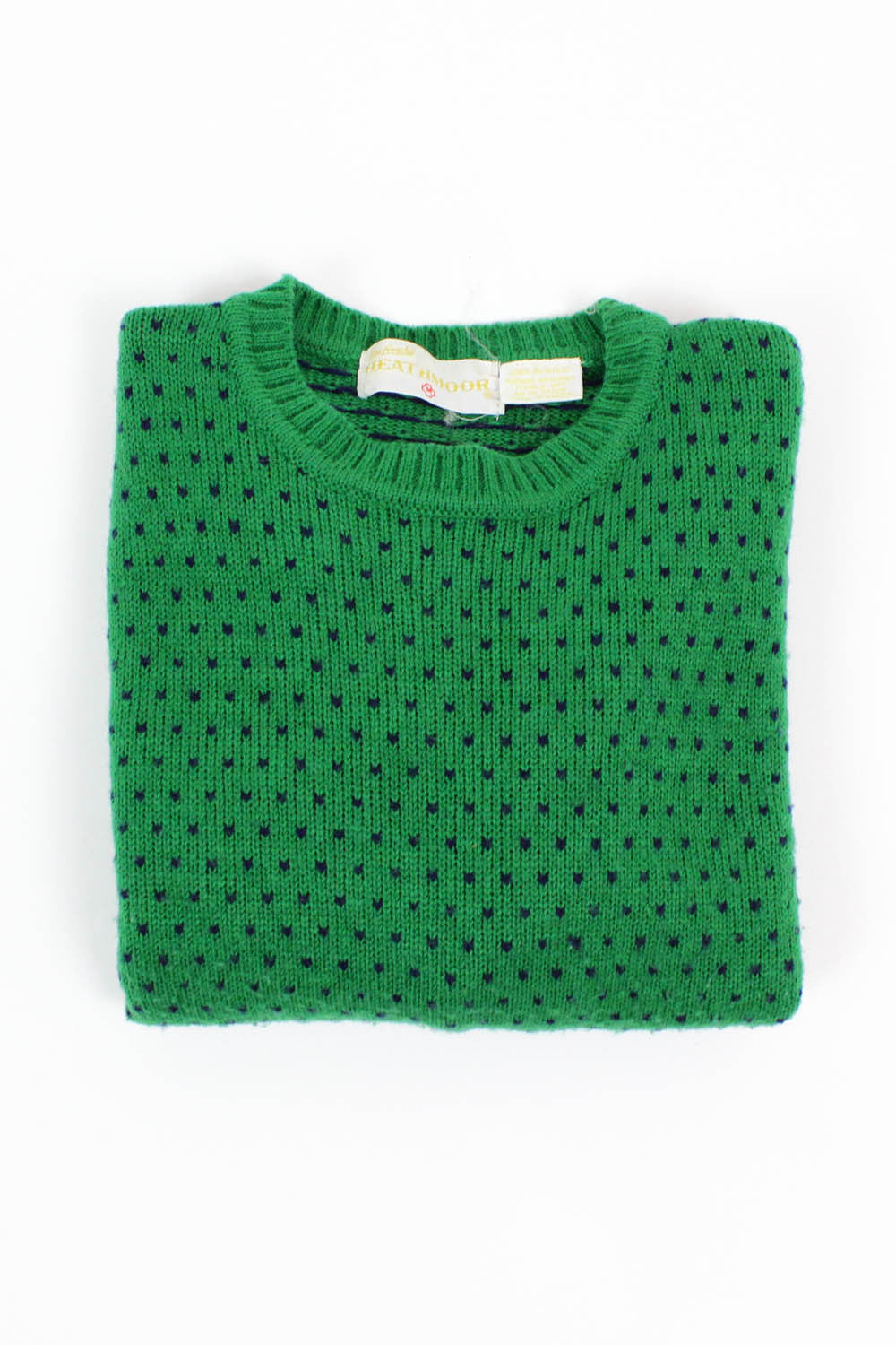 green polka dot sweater S/M