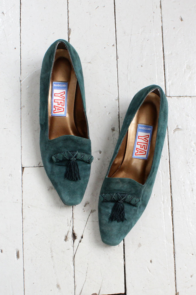 Green Tassel Loafers 8