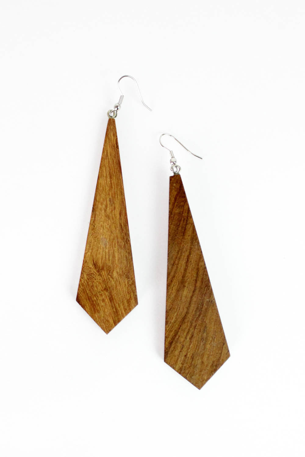Long Wood Earrings
