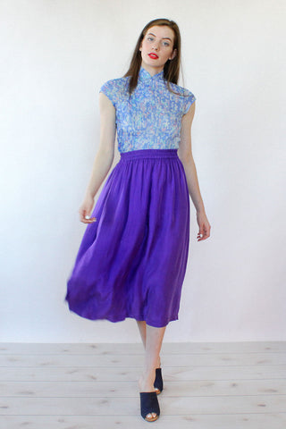 Grape Silk Skirt M/L