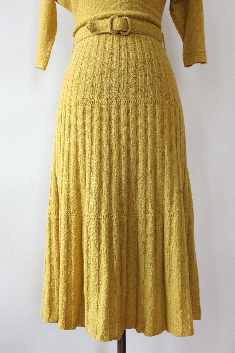Chartreuse 40s Knit Dress XS-M