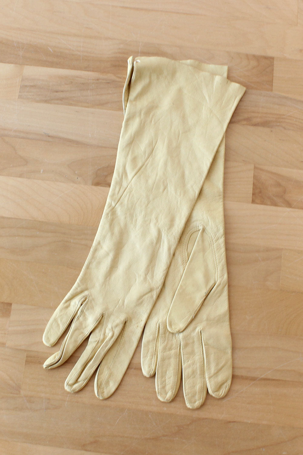 Butter Leather Elbow Gloves