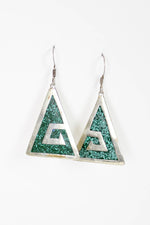 Malachite Maze Earrings