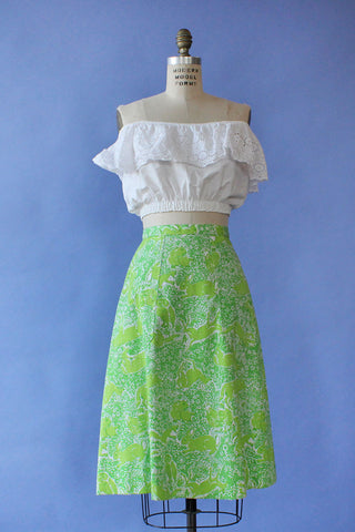 Dreamy Floral Silk Skirt XL