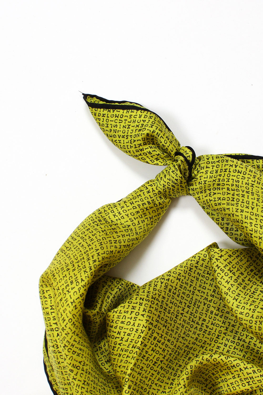 Chartreuse ABC Silk Scarf