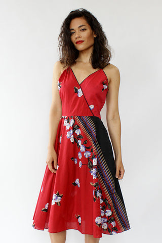 The Red Tropical Dress S/M