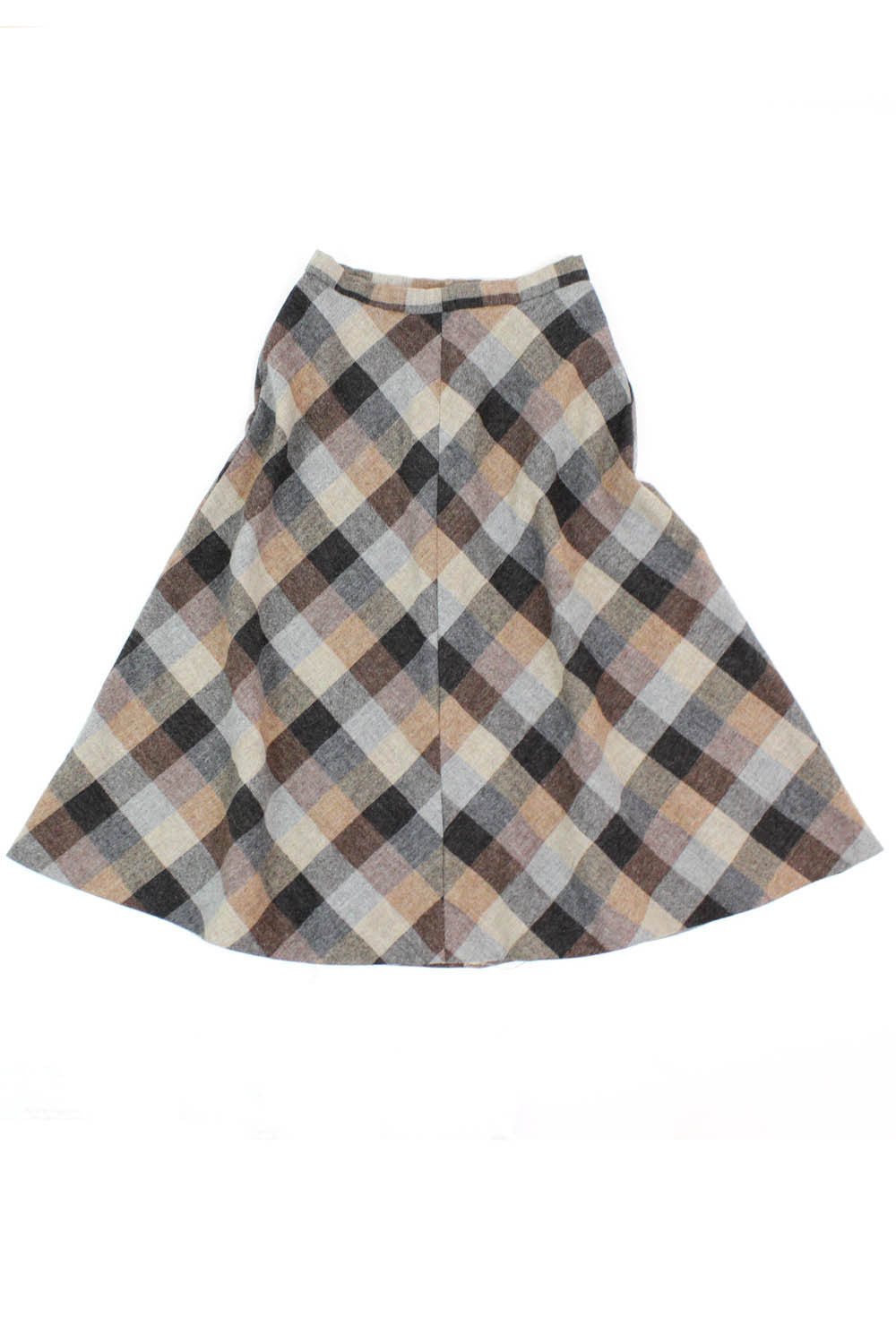 Toasty Plaid A-line Skirt S