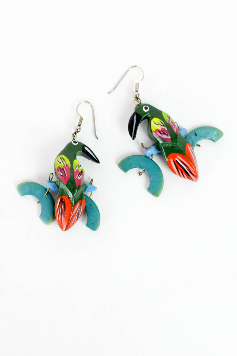 Perched Parrot Earrings