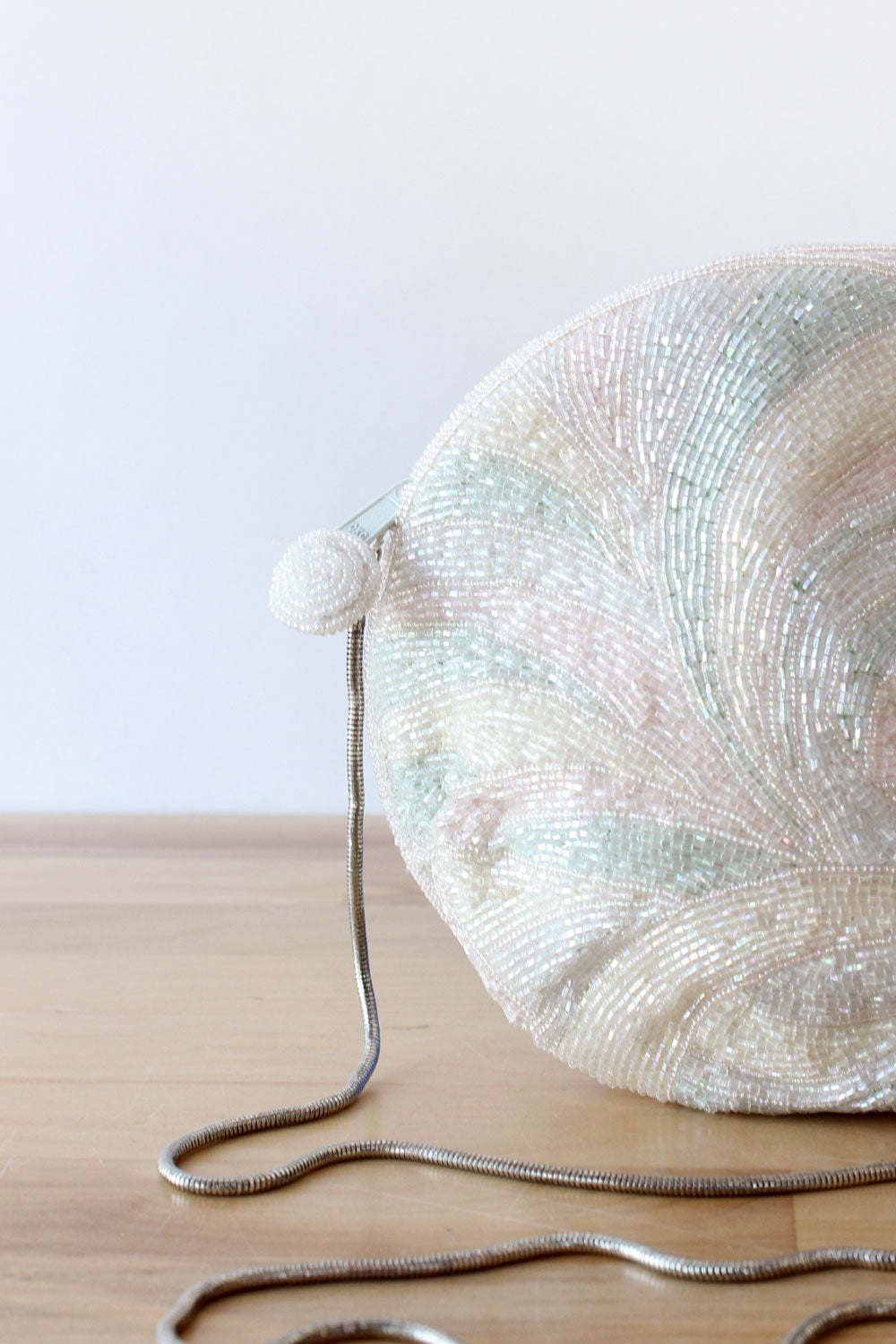Mother Of Pearlescent Beaded Purse
