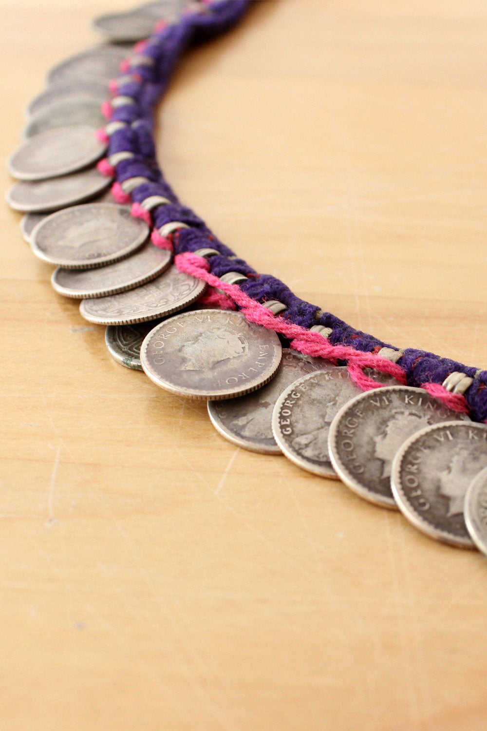 Indian Rupee Coin Necklace