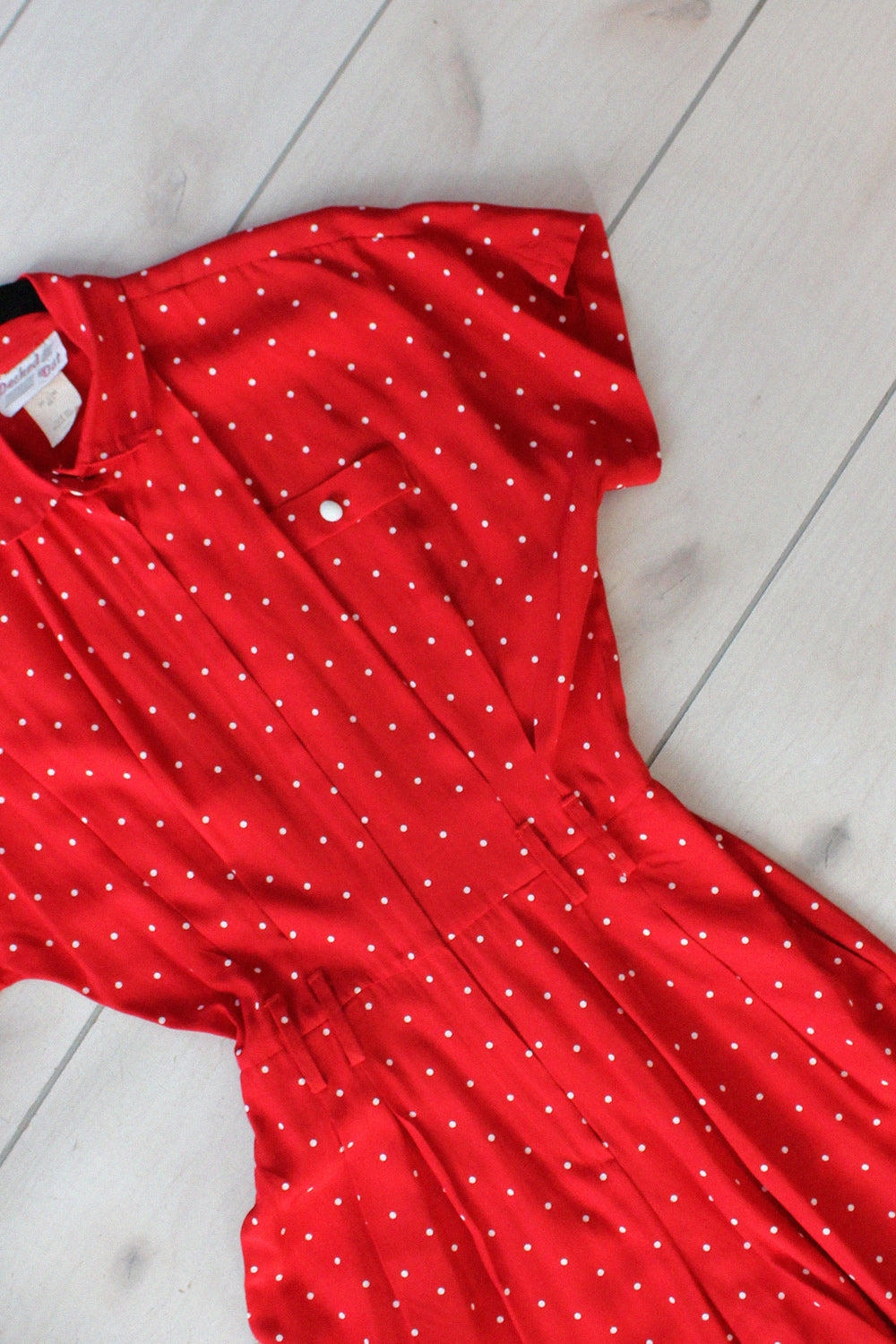 Decked Out Swiss Dot Romper M/L