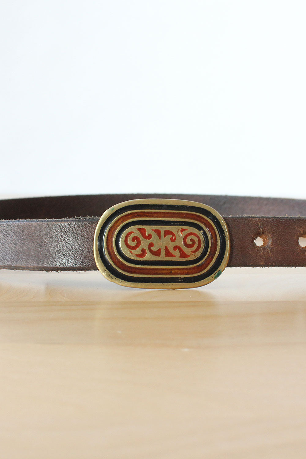 Indian Enamel Buckle Belt