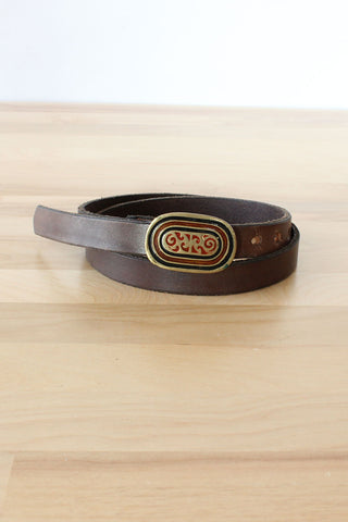 Thick Leather Cutout Belt