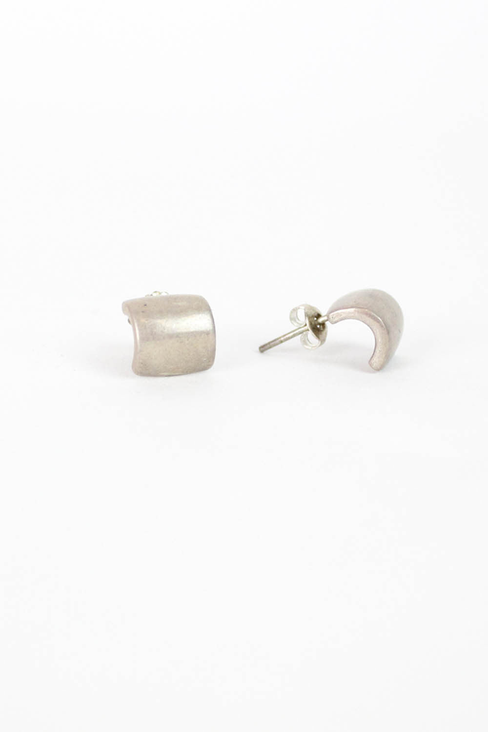Modernist Sterling Lobe Earrings