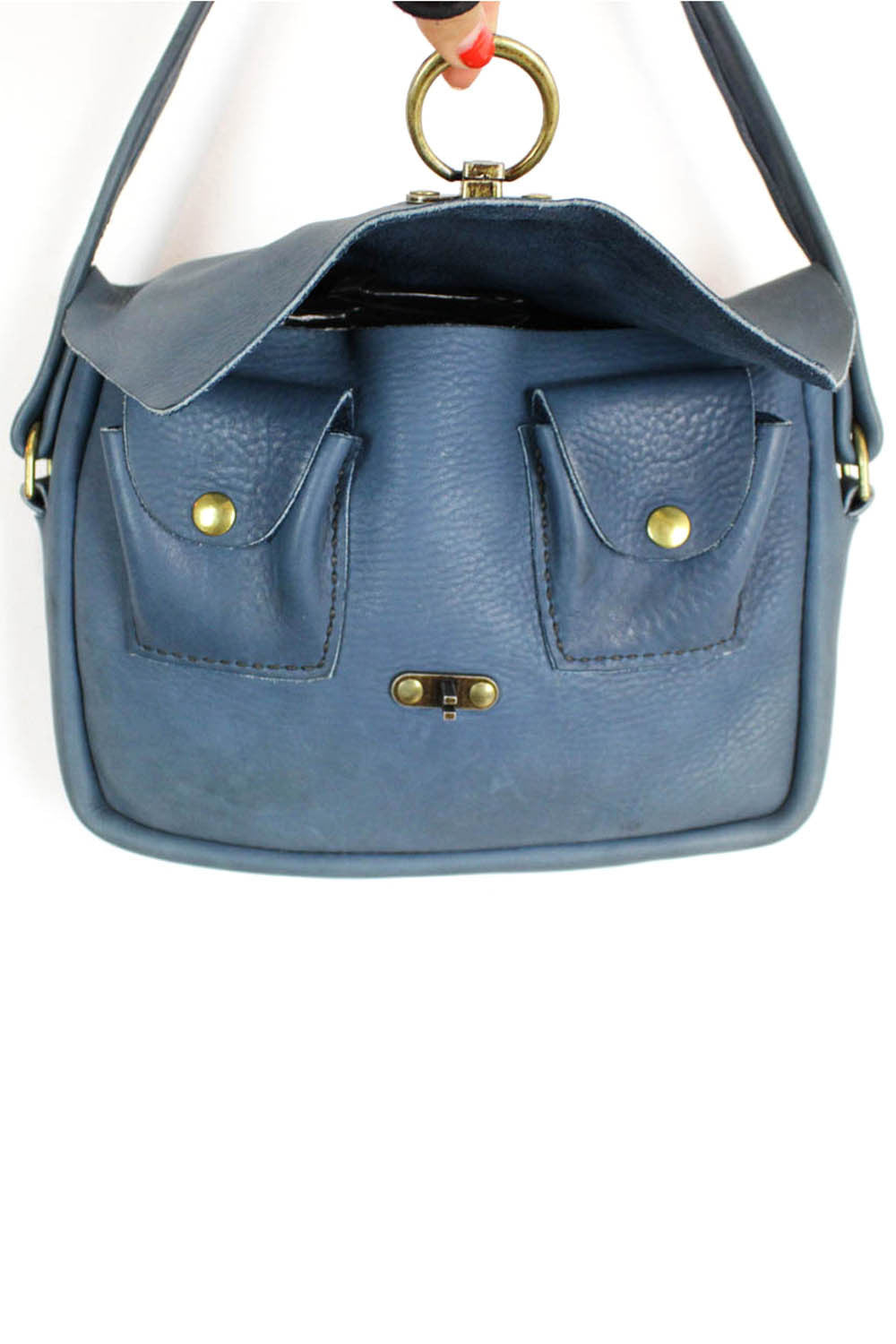 denim blue satchel