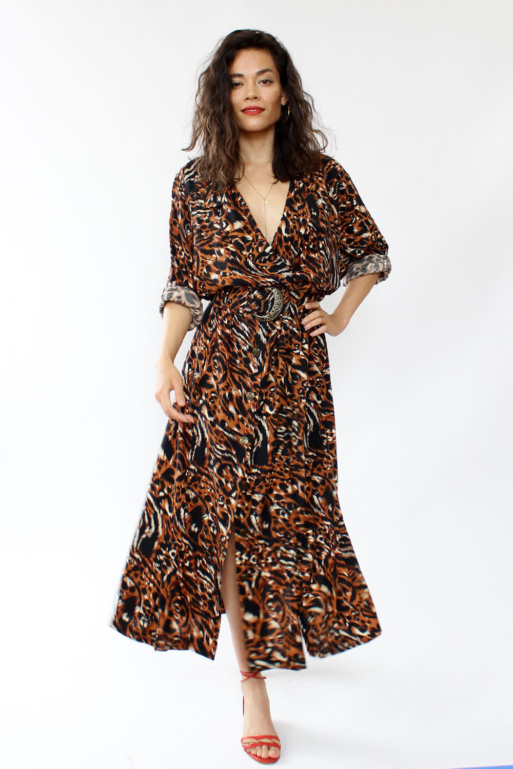Animal Instinct Duster Dress L/XL