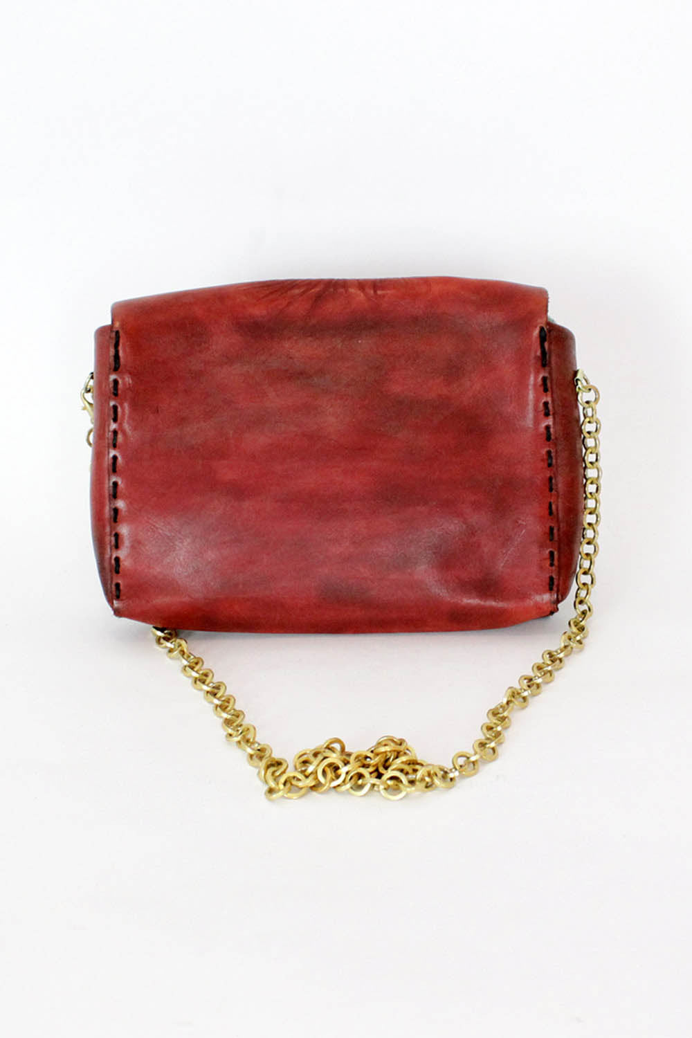 vintage metal chain purse