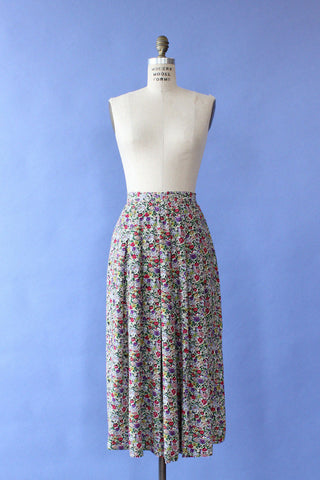 Grape Geometry Maxi Skirt M