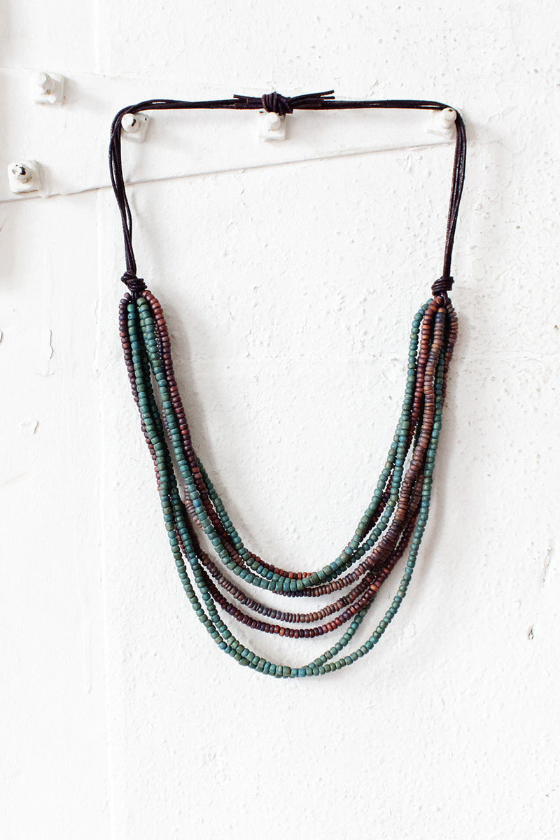 Teal Drop Necklace