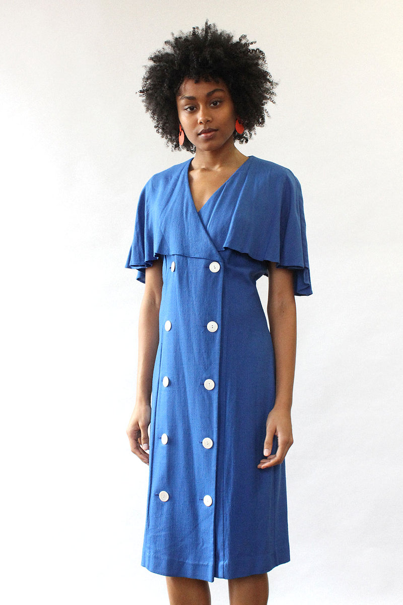 Cobalt Capelet Dress M