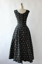 Taffeta Cornucopia 1950s Dress S/M