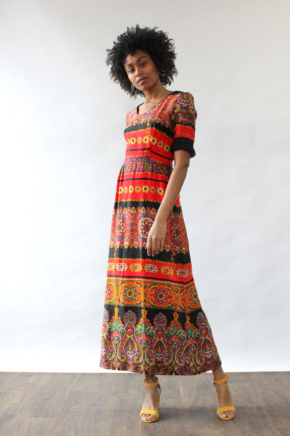 Anastasia Fringe Maxi Dress S