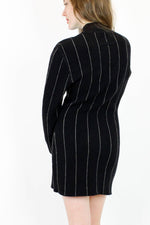 Gaultier Pinstripe Mini Dress L