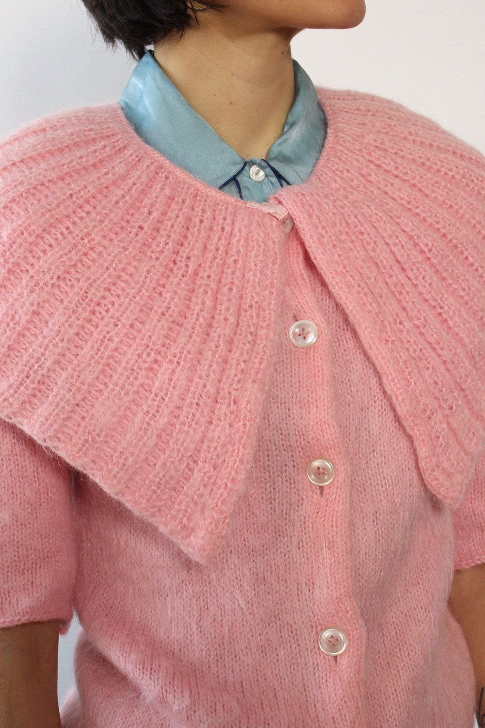 Jane Irwill Pink Collared Cardigan XS/S