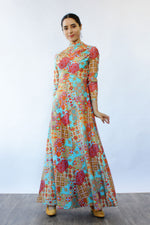 Kaleidoscope Print Maxi Dress XS-M