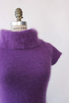 Grape Angora Cap Sweater XS/S