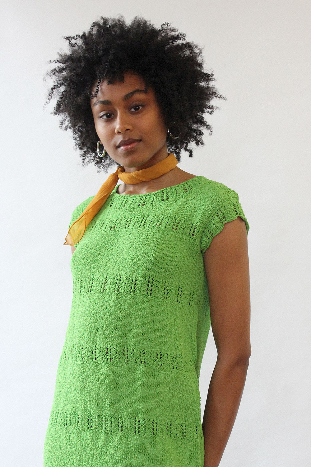 Lime Scalloped Knit Dress S-L