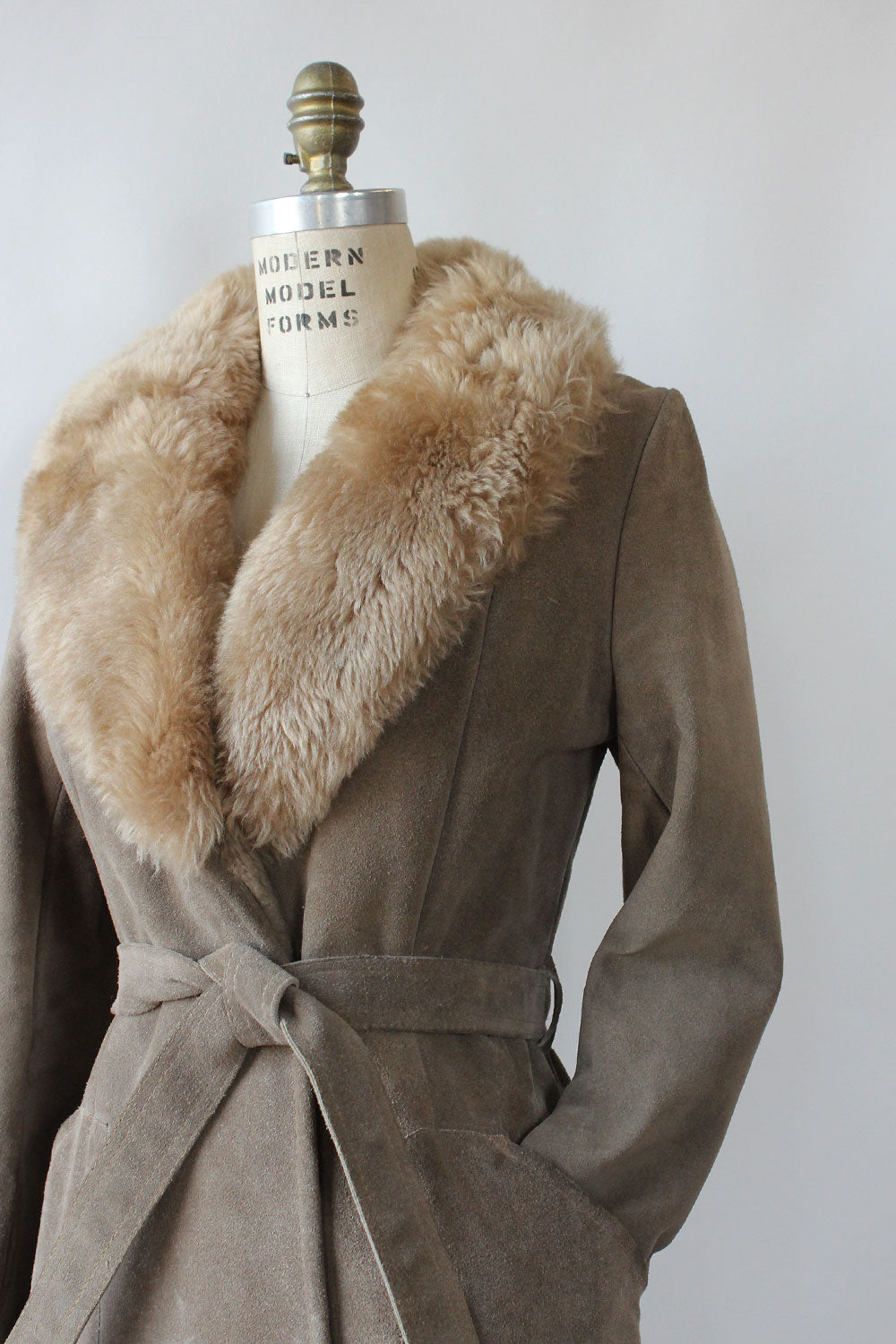 Ash Shearling Suede Jacket