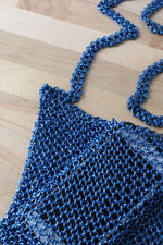 Electric Blue Chainmail Bag