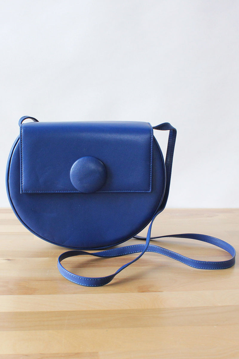 Cobalt Circle Crossbody Bag