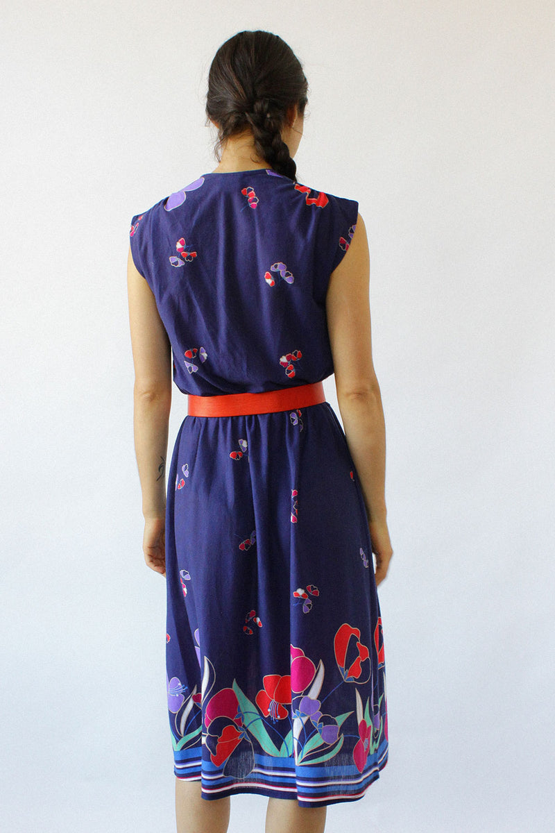 Midnight Floral Knit Dress XS-M