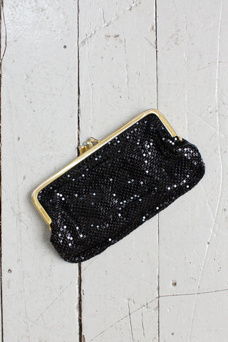 Whiting & Davis Black Mesh Pouch