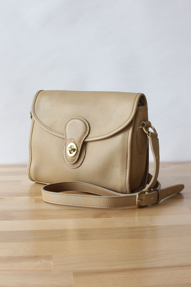 Coach Taupe Satchel Bag