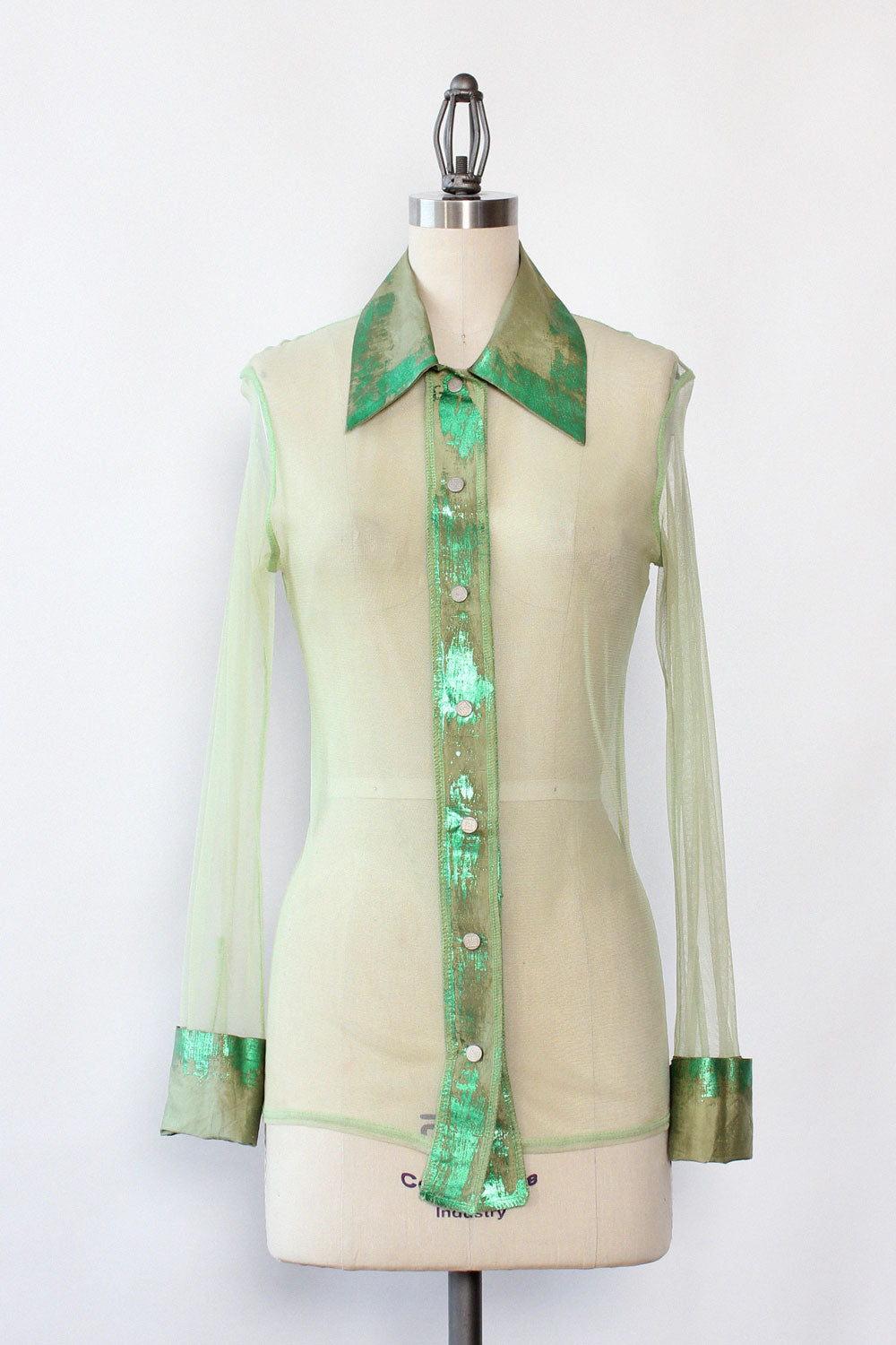 Lime Green Mesh Blouse S/M