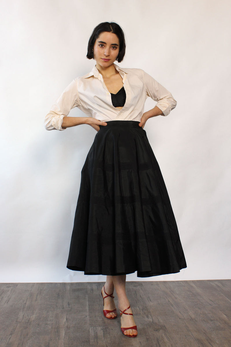 Full Circle Taffeta Skirt XS