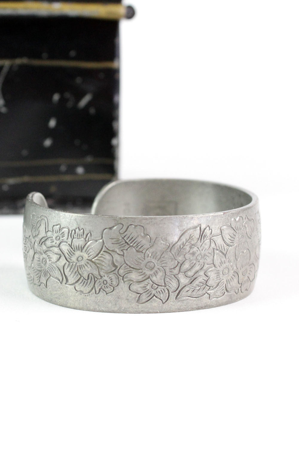 "pewter floral ""Violet"" cuff"