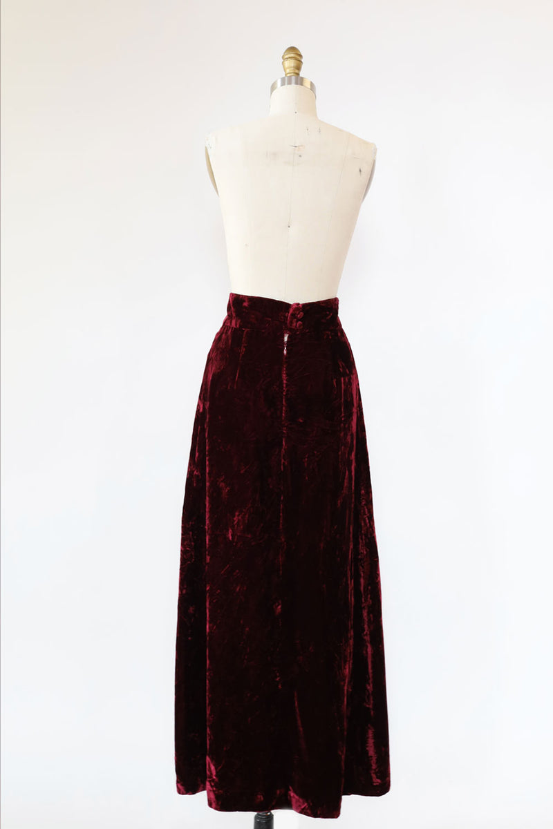 Cabarnet Crushed Velvet Skirt S