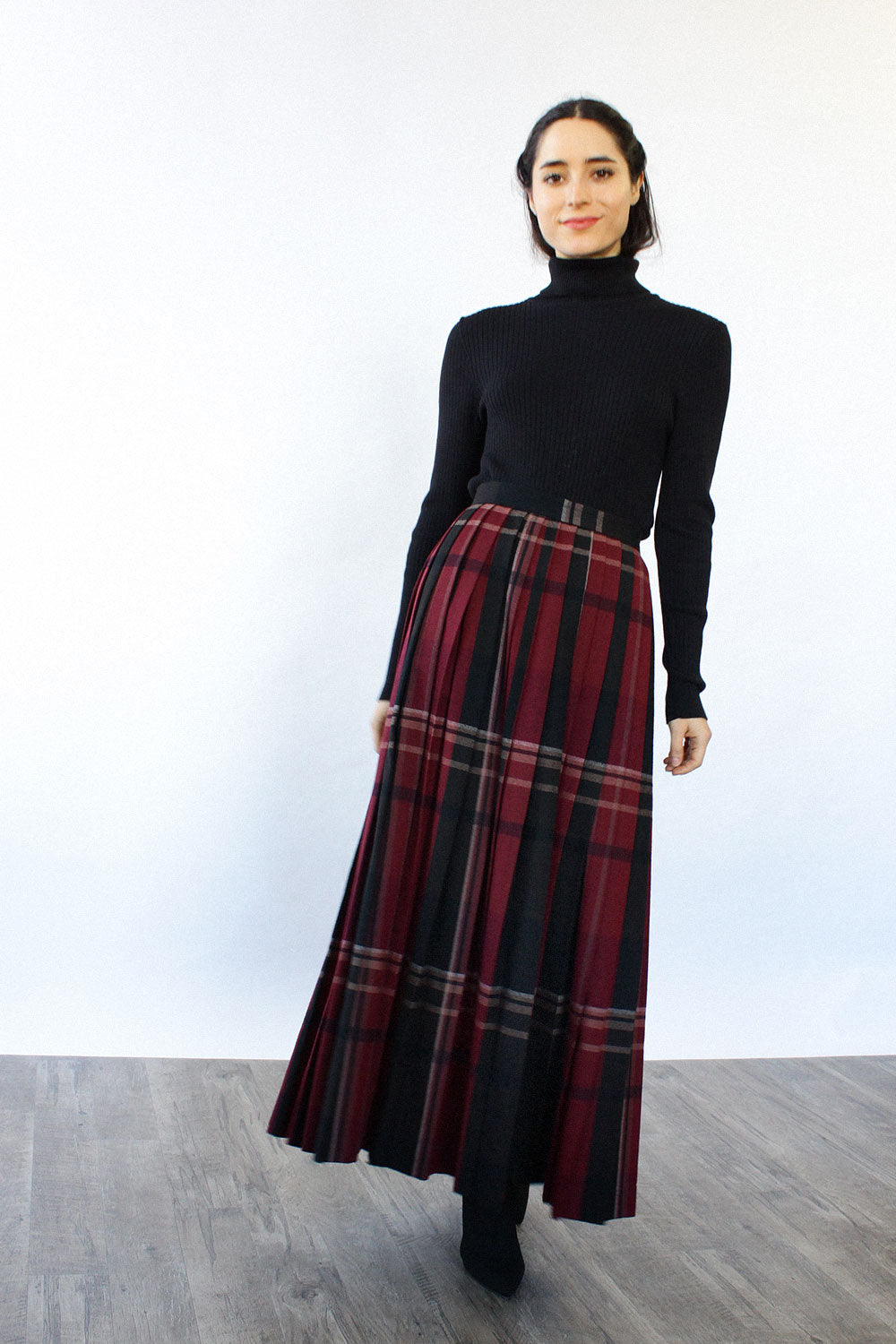 Evan Picone Pleated Maxi S/M