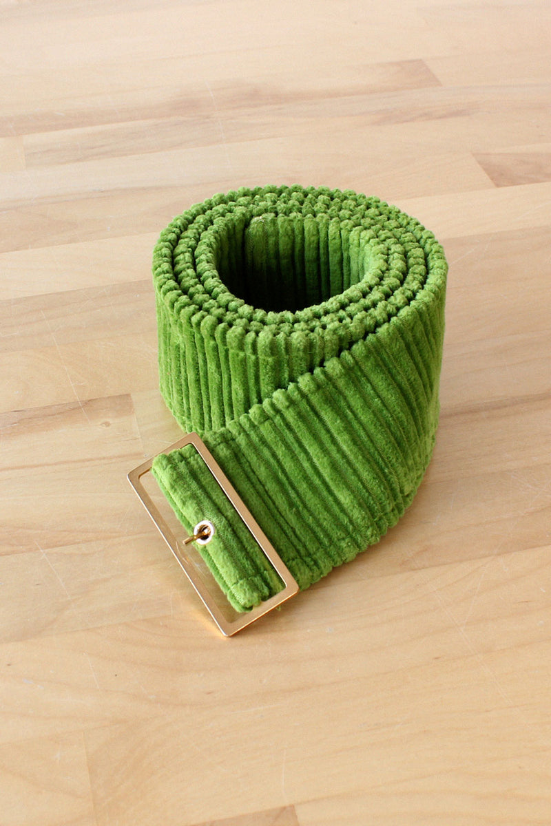 Lime Corduroy Belt