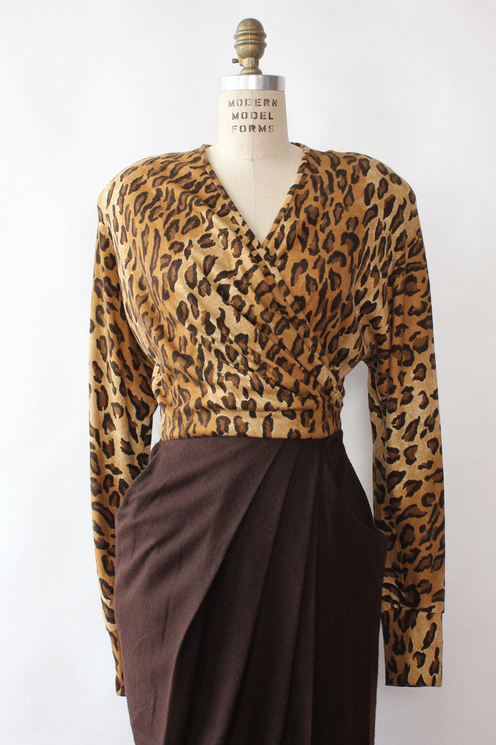 Chetta Leopard Knit Dress L