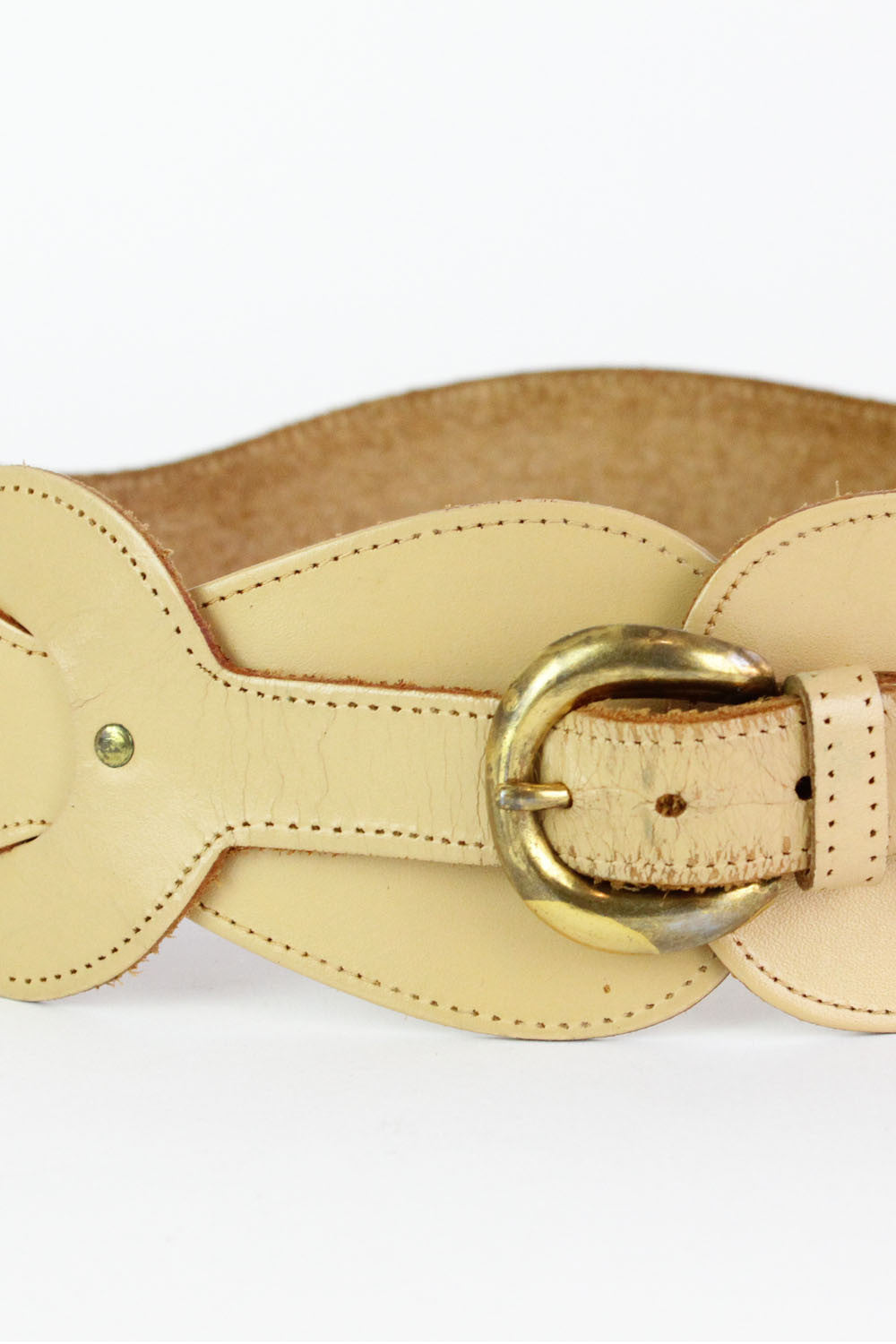 Nude Leather Infinity Belt S