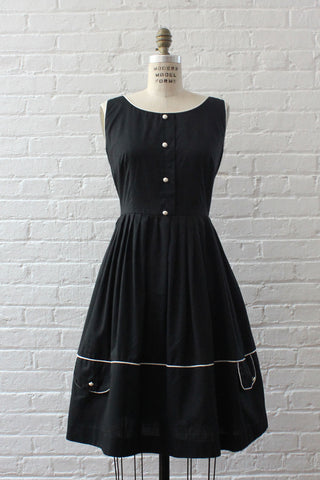 Maggy Midnight Silk Dress M/L