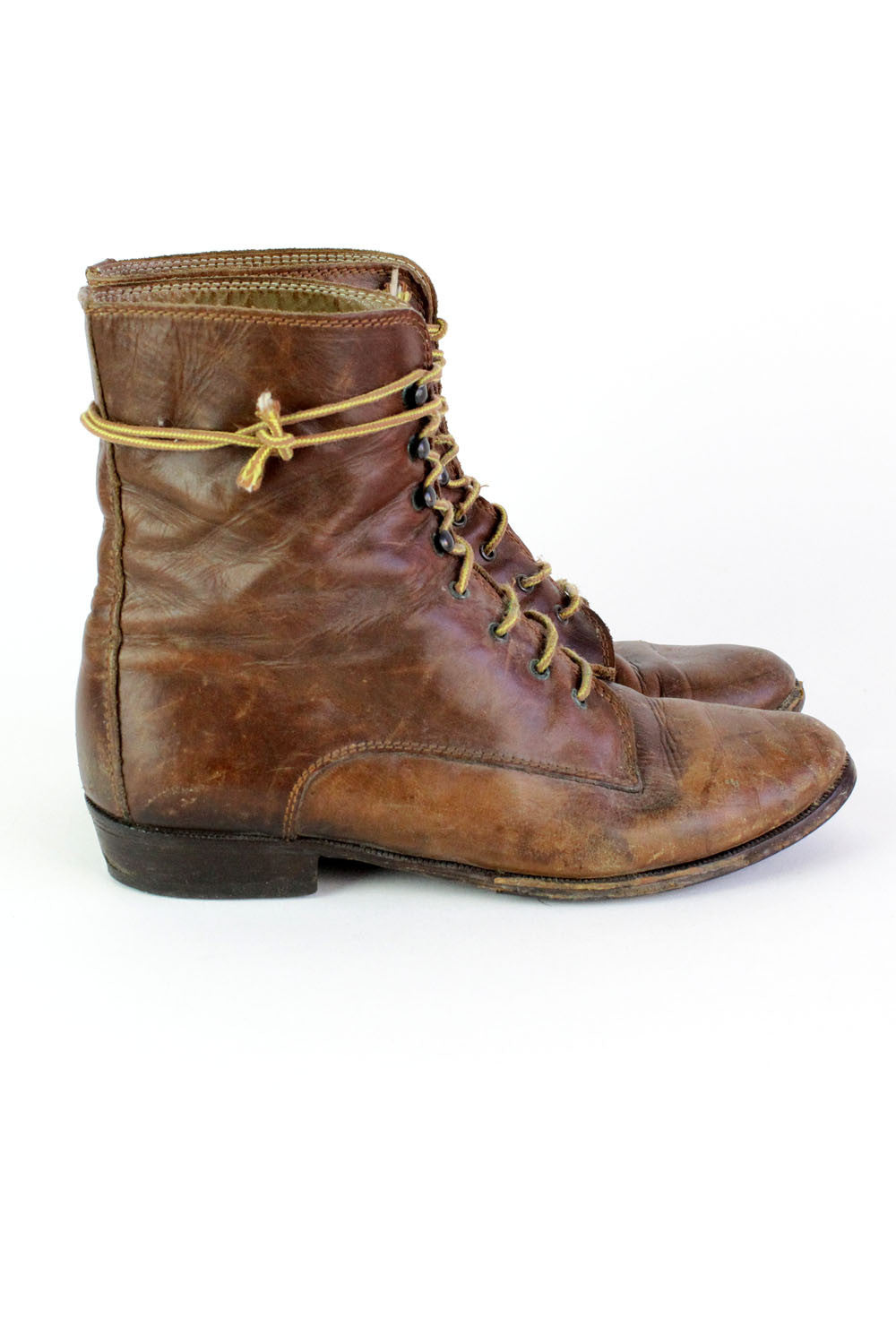 Lace Up Leather Boots 8